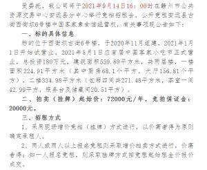 安远县古街西街坝6号楼中国客家素食馆经营权对外公开竞租公告